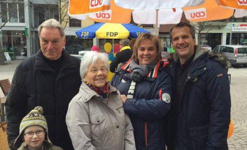 Michael Hennrich unterstützt im Wahlkampfendspurt