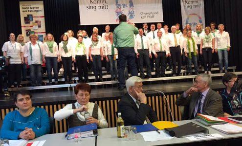 """bei der Chorverbandsversammlung des Chorverbands """"Karl Pfaff"""""""